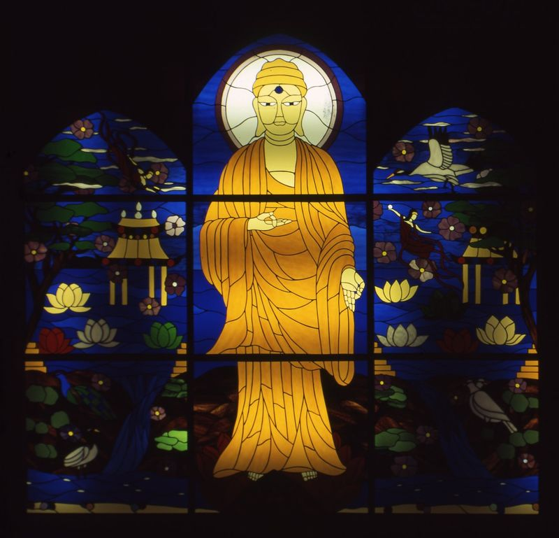 Amitabha Stained Glass