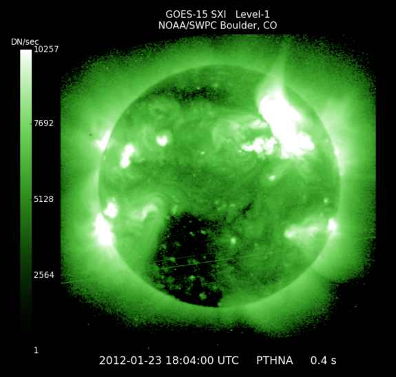 Solar-flare-geomagnetic-storm