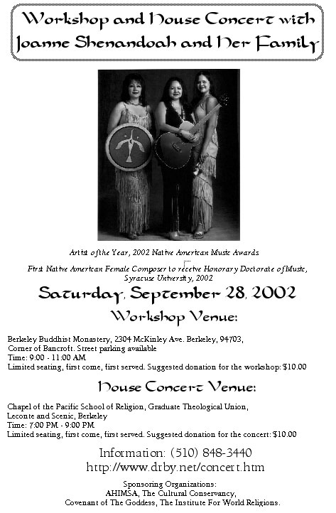 2002 Concert Poster